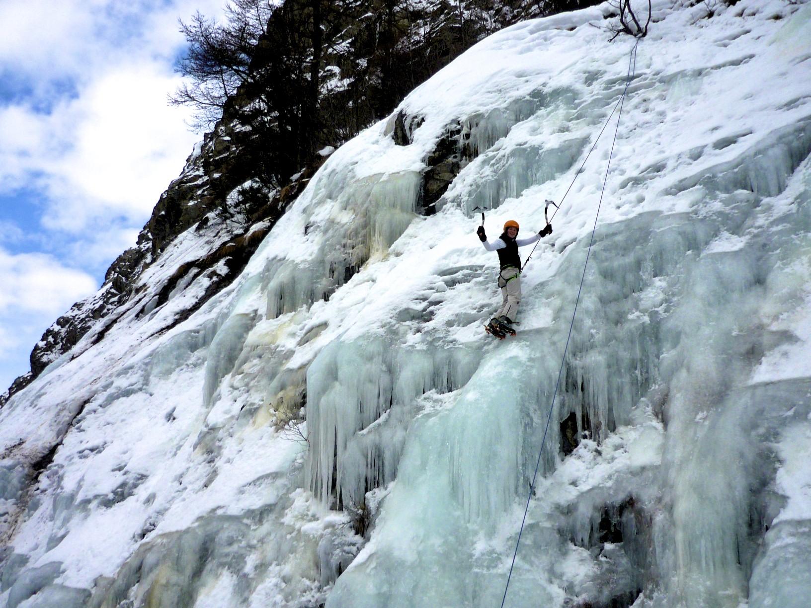 cascade de glace, la grave