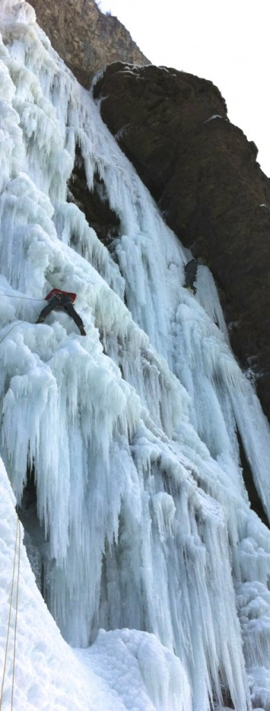 cascade de glace, Magland