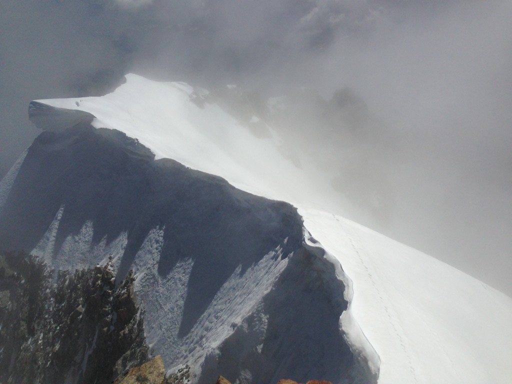 Peu avant d'arriver sur le Mont Blanc de Courmayeur.