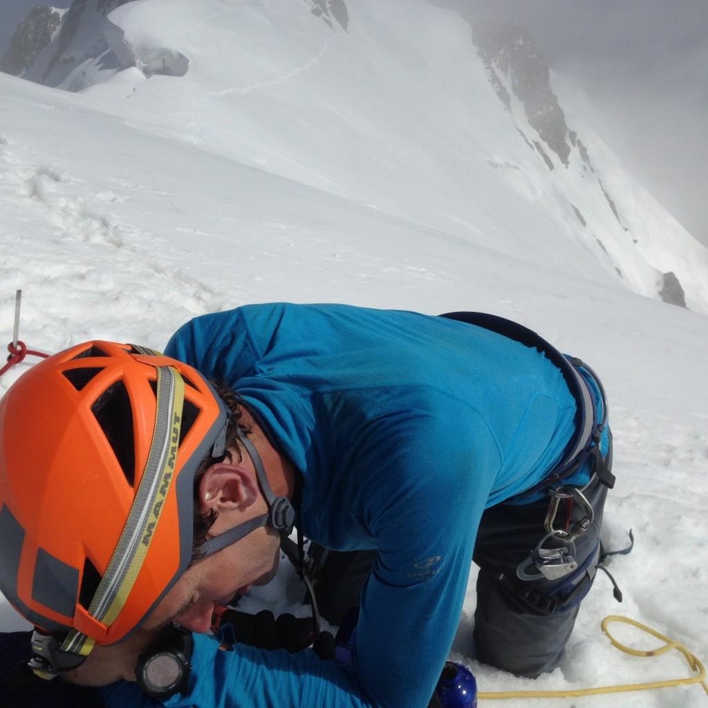 Mont Blanc de Courmayeur... Un peu de fatigue