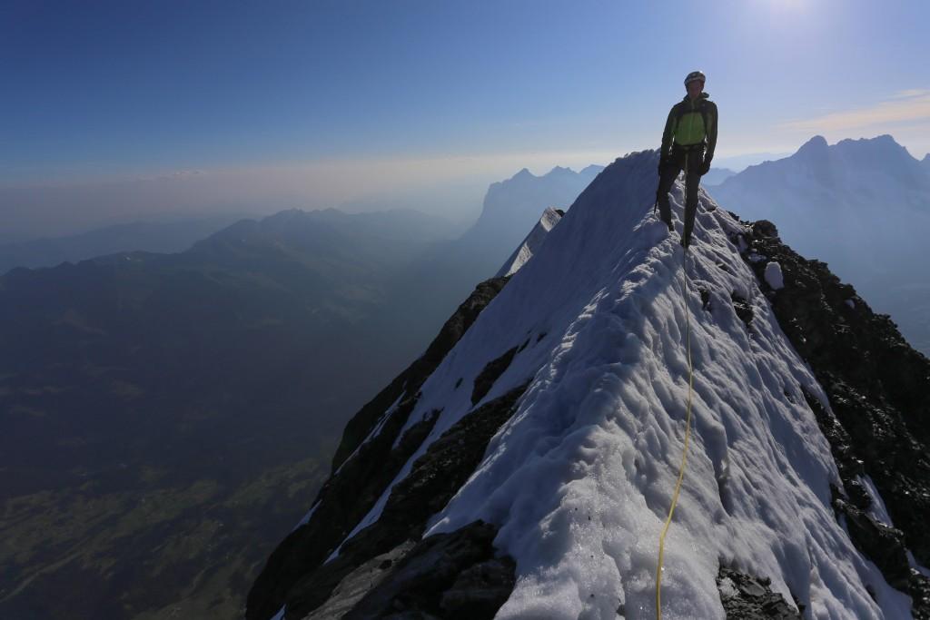 Max, non loin du sommet de l'Eiger.